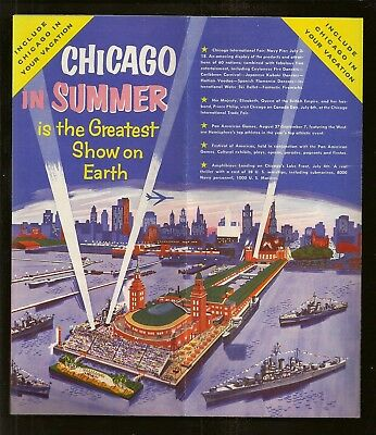 1959 Chicago In Summer Greatest Show on Earth International Fair Brochure