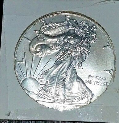 2017 Silver Eagle Coin Dollar Mint Bu