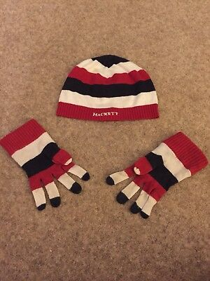 Boys Hackett Winter Hat & Gloves Set Age 3+
