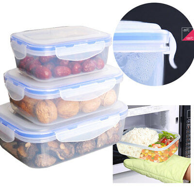 Plastic Crisper Refrigerator Containers Box Food Storage Lunch Boxes New
