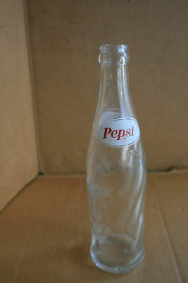 Pepsi-Cola Ncl Older Soda Pop Bottle, 12 Ounces, Twisted Ribbed Glass