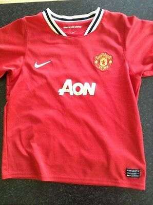 Manchester United Home Shirt 2011/12 Number 10-Rooney Size 7/8 Years