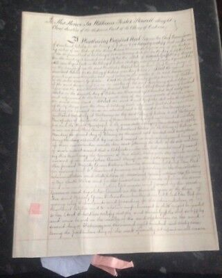 Legal Document 1863 to Sir William Foster Stawell Attorney-General of Victoria