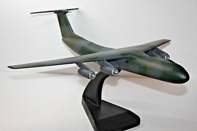 "Beautiful Hand Carved C-141 Starlifter 20 1/2"" L X 19 1/2"" Ws Has Issues"