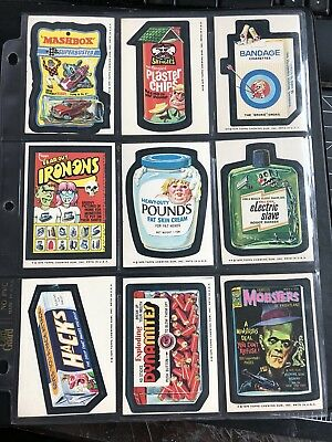 1975 Topps Wacky Packages Original 15th Series Complete White Back Set 30/30