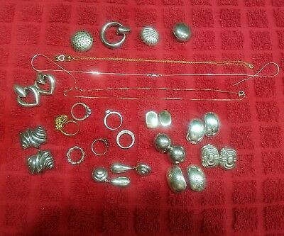 Lot of Sterling Silver .925 Jewelry 136 grams - 4.8 oz. some for scrape-some not
