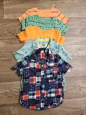Lot Of 5 Toddler Boys Tops Size 4T Gap Old Navy Cat And Jack Genuine By Osh Kosh