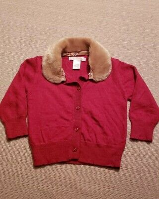 Red Janie and Jack Button down Sweater Size 6-12 Months