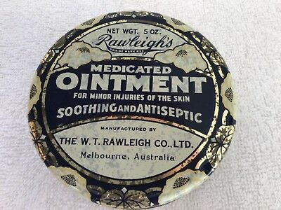 Rawleigh's Medicated Ointment Tin & Contents.