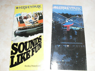 Two (2) Hershey Park brochures 1985, 1987 Good condition FREE SHIPPING