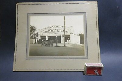Antique Vintage Photograph of Garage Service Station Genuine photo.