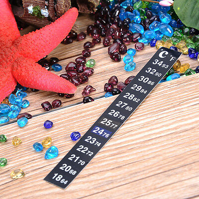 LCD Digital Thermometer Adhesive Stick in The Aquarium Fish Tank Window Strip
