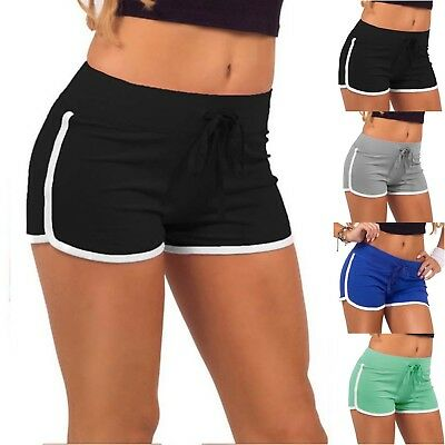 Womens Sports Shorts Casual Beach Summer Jogging Gym Yoga Hot Pants Trousers US