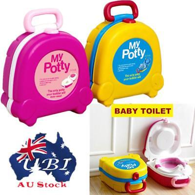 Portable Kids Children Baby Toddler Toilet Urinal Training Potty Trainer Seat AU