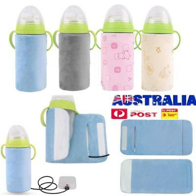 USB Milk Feeding Bottle Insulation Baby Bag Cup Heating Warmer Pouch Cover AU!