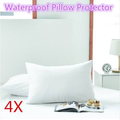 4Pcs New 50x70CM Waterproof Pillow Case Anti-allergy Polyester Pillow Protector