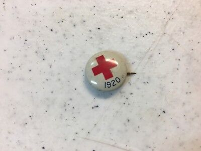 Vintage 1920 Red Cross pin w/ maker's mark on the back