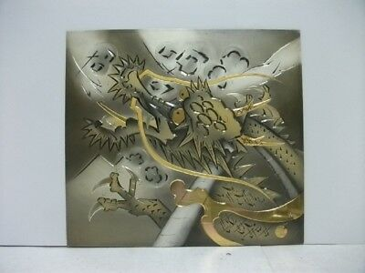 Pure gold, pure silver, a metal engraving product. Dragon. KAZUAKI's work
