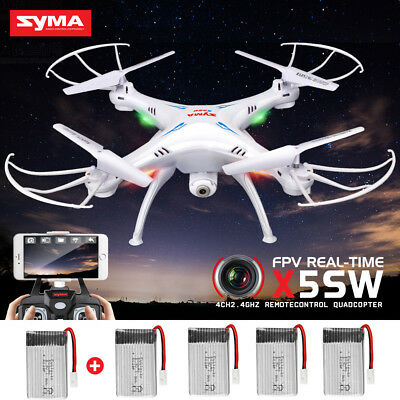 Used SYMA X5SW RC Quadcopter Drone FPV Wifi Camera Headless One Motor Broken