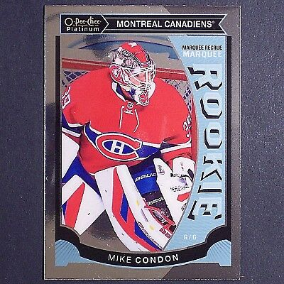 MIKE CONDON RC - 2015/16 OPC Platinum #M32  Montreal Canadiens  Rookie single
