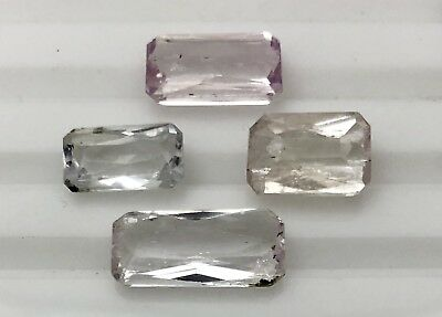 35.6 Ct Natural Kunzite Faceted Gemstone Untreated Lot Afghanistan