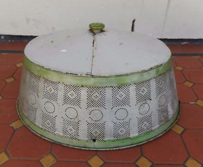 c.1890's Antique Victorian Metal Original Paint Large Ornate Pattern Cloche