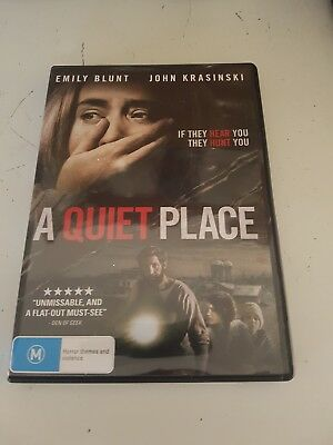 DVD ... A Quiet Place ... 2018 ... Rated M ...  Region 4 ... Emily Blunt