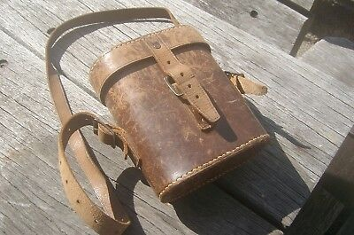 Ww1 Anzac ..   ..artillery Glasses.. Leather Cased Dated  1915....working Set