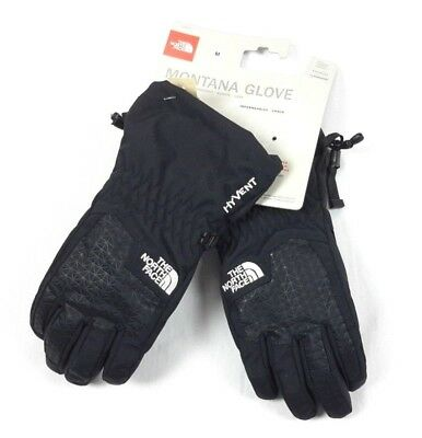 The North Face BOYS YOUTH Montana Hyvent Black Waterproof Ski Snow Gloves Medium
