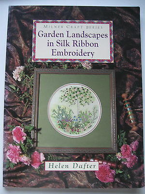 Garden Landscapes in Silk Ribbon Embroidery Book Helen Dafter Flower Picture Bag
