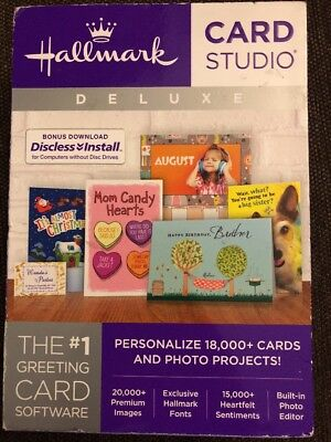 Hallmark Card Studio Deluxe for Windows Includes Discless Install - 43141-W