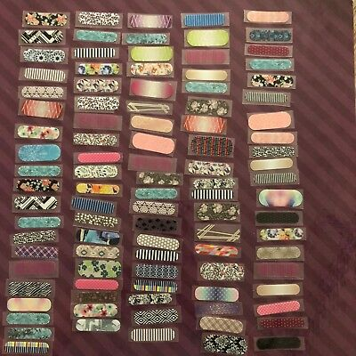 Lot of 100 Random Jamberry Wraps Includes Samples Retired & HTF Designs Lot #5