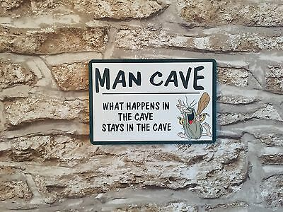 Metal Sign - Man Cave  Wall Plaque - Ideal Fathers Day Man Gift Novelty