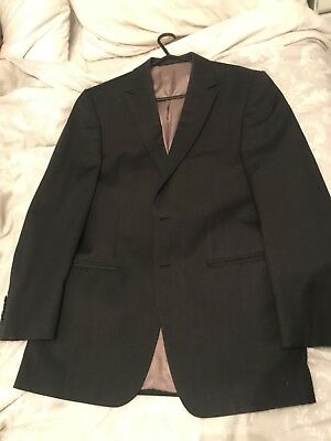 Marks & Spencer Collezione Mens Black Suit 38 Chest 32 Waist - 34 Leg 31