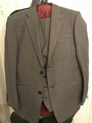 Marks & Spencer Sartorial Mens Grey Suit 38 Chest 34 Waist 34 England Football