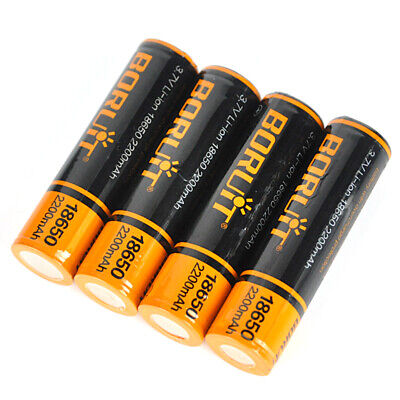 4PCS GENUINE 4000mAh Li-ion 18650 3.7V RECHARGEABLE BATTERIES FOR HEADLAMP TORCH
