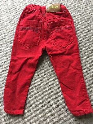 Ted Baker Age  3-4 Red Cords Trousers Great Condition