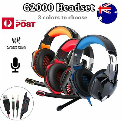 KOTION EACH G2000 Stereo LED Light Game Headphone Headset Earphone Headband Mic