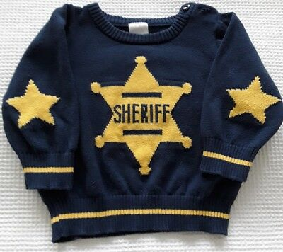 Baby boys 'Sheriff' Jumper * Sweater * Size 00 (3-6 months)