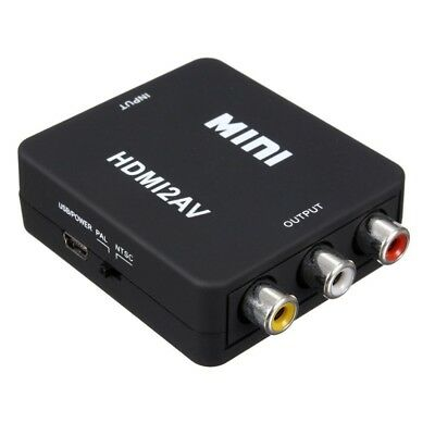 MINI HDMI to 3RCA CVBS Composite Video AV Converter Adapter TV PS3 VHS VCR DV L6