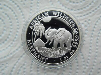 2017  Somali  1oz. Silver Elephant. with rooster privy.