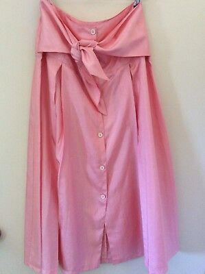 Amazing and Unique Vintage M Maxi Skirt Pink Skirt