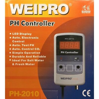 PH Meter and controller Weipro PH2010. Ideal for Calcium reactor. UK plug and UK