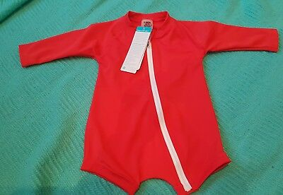 Bonds Toddler Swim Red size 000 UPF50+ NWT Boy or Girls
