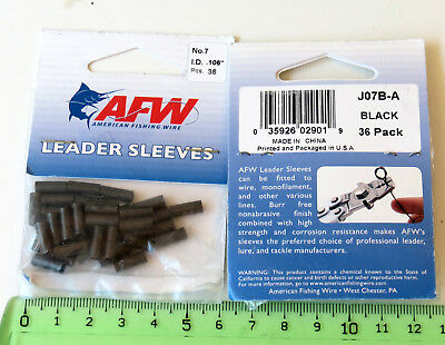 Lot x2 paquets Sleeve pêche AFW N° 7  American Fishing Wire leader Sleeve 2 Pack