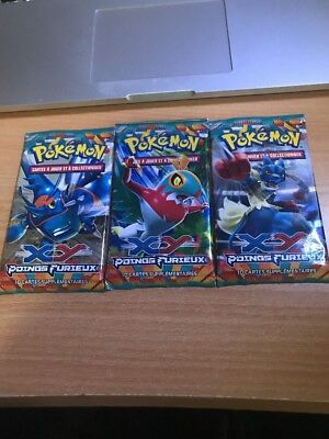 Lot De 3 Booster Pokémon XY Poings Furieux Neuf Booster/Display
