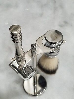 New saftey razor set with shave brush and holder with perfect edge box