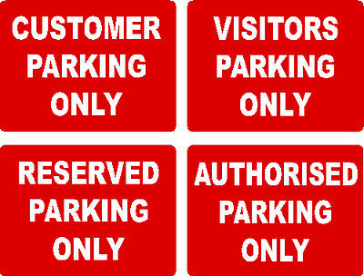 NO PARKING WARNING SIGNS 40cm x 30cm EXTRA THICK 5mm RIGID PLASTIC You Choose !