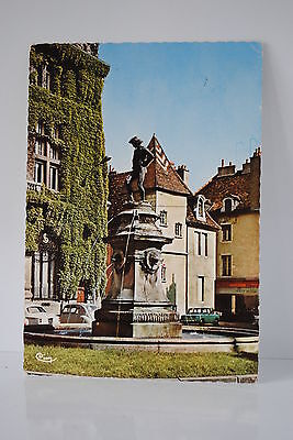 Cpa  Dijon 21 Cote D'or Place Francois Rude Theme Voitures