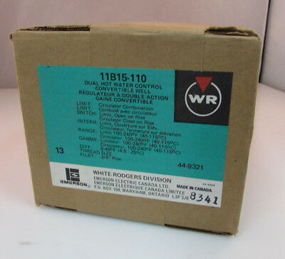White-Rodgers 11B15-110 Dual Hot Water Control Convertible Well ***NEW***